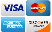 We accept all Credit cards and debit cards