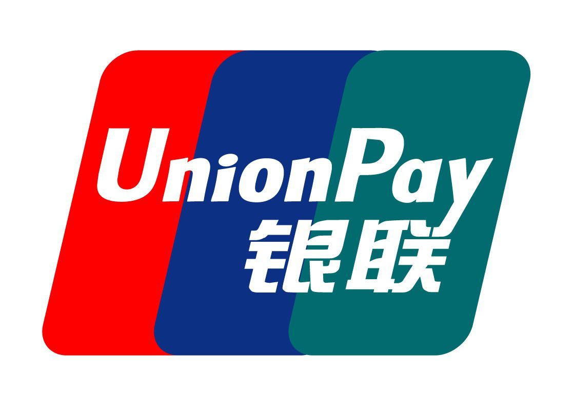 We accept unionpay 我们接受银联